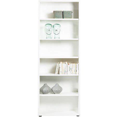 Walmart White Bookcase by Fairfax 5 Shelf Wide Bookcase White Walmart
