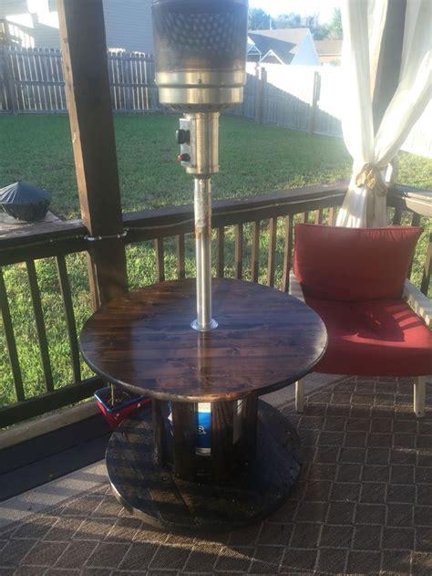 reclaimed spool  propane heater table heater