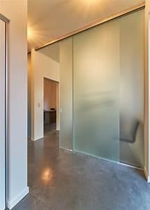 portes coulissantes sur mesure anyway doors With porte en verre opaque