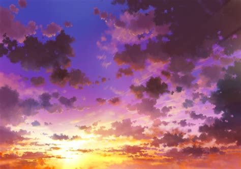 Anime Sunset Wallpaper - wallpaper anime sky sunset clouds wallpapermaiden