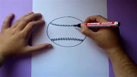 como dibujar una pelota de baseball paso  paso