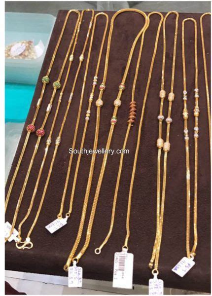 thali chain models photo gold jewellery   gold