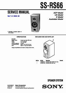 Sony Mhc-rg66  Ss-rs66 Service Manual