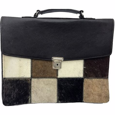 Cowhide Leather Briefcase by South Cowhide Hair On Leather Briefcase Unique