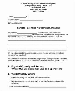co parenting contract agreement template 28 images With co parenting agreement template