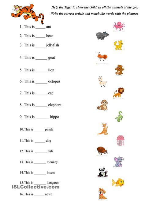animals worksheets for kindergarten brandonbrice us