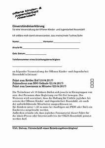 Anmeldeformular Osterferien 2017