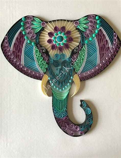 beautiful  unique elephant head artwork