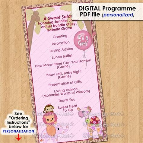Printable Baby Shower Planner Template 8 Free Pdf Lovely Design Baby Shower Schedule Of Events Printable