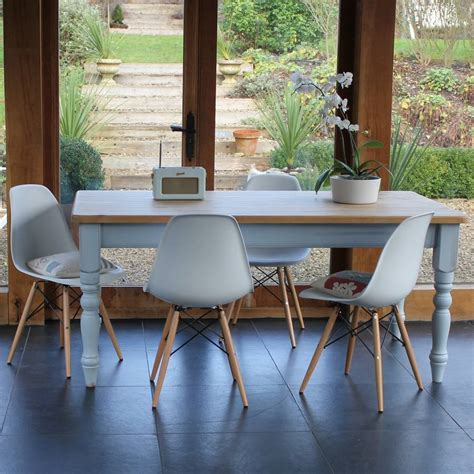 chilmark table with eames style chairs farmhouse table