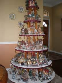 fantastic idea for christmas village display christmas and winter decor pinterest