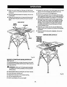 Craftsman 315218050 User Manual Table Saw Manuals And