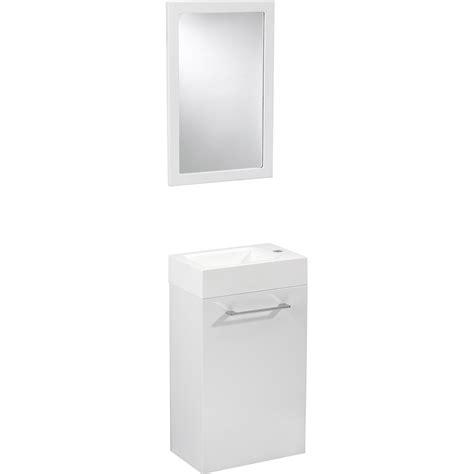 pose meuble cuisine meuble lave mains avec miroir blanc blanc n 0 sensea