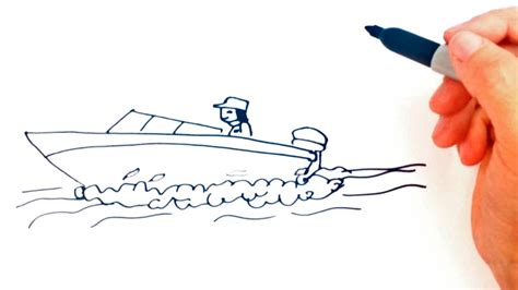 How To Draw A Speedboat Easy how to draw a speedboat drawing lesson step by step youtube