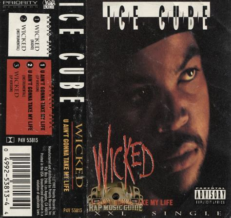 ice cube wicked  aint gonna   life cassette