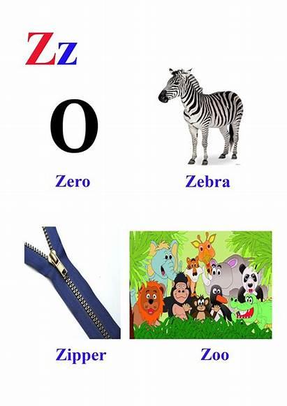 Words Letter Starting Learn Easy Zebra Represented