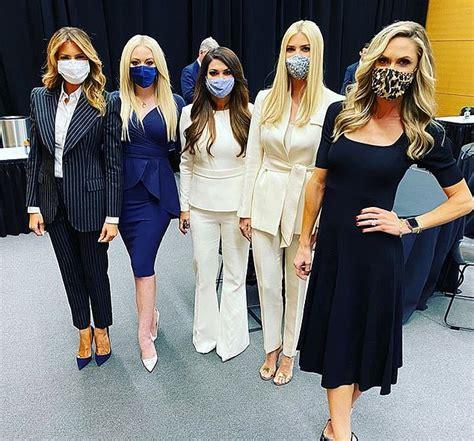 melania debate tiffany trump ivanka social selfie presidential posing lady backstage guilfoyle kimberly influencers lara another don biden masks jill