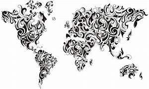 Carte Du Monde Design : mappemonde design en pochoir plastique r utilisable ~ Teatrodelosmanantiales.com Idées de Décoration
