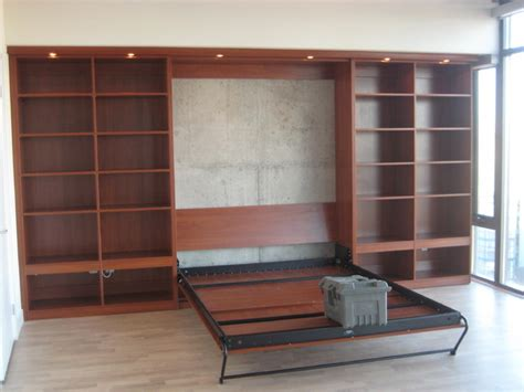 murphy bed with cabinetry modern toronto by komandor