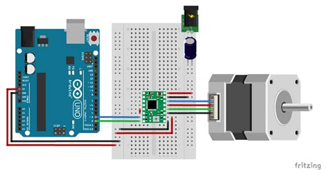 how to a stepper motor with a4988 and arduino 4