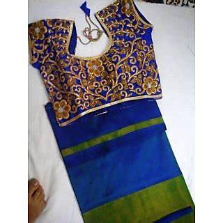 buy uppada black uppada silk self design saree with blouse get 0