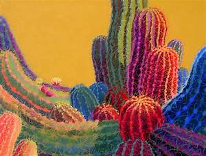 Cactus Paintings by Sharon Weiser - Turquoise Tortoise Art ...