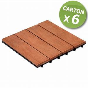Dalle Terrasse Clipsable : dalles clipsables 4 lattes en bois vendues par carton de 6 ~ Melissatoandfro.com Idées de Décoration