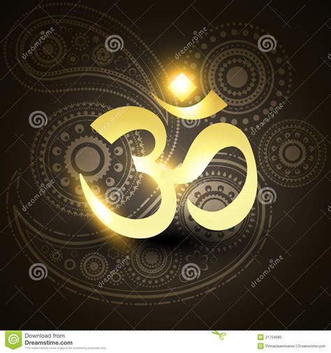 beautiful golden om symbol stock image image