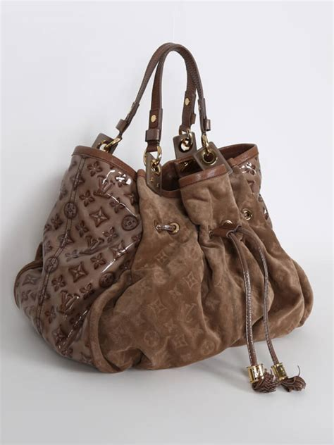 louis vuitton irene limited edition suede bag coco