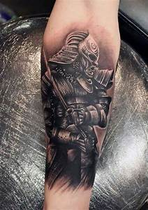 samurai tattoo, unterarm, unterarmtattoo, katana, helm ...