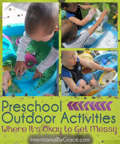 preschool outdoor activities where it s okay to get 767 | Preschool Outdoor Activities Where Its Okay to Get Messy Intentional By Grace e1428285653719