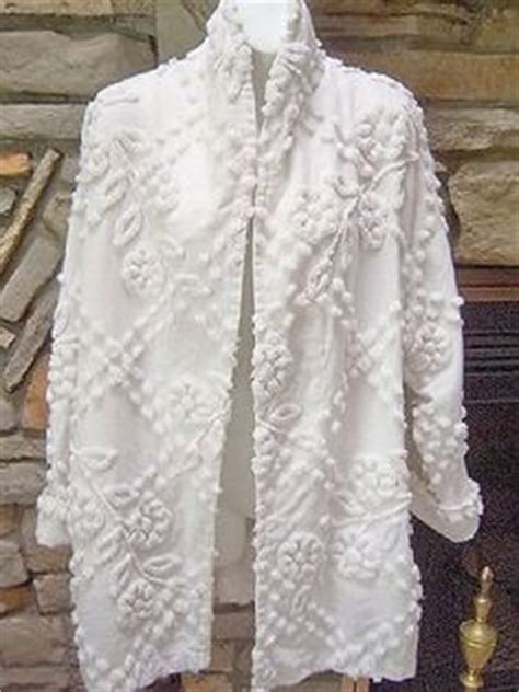 Chenille Bed Jacket by Vintage Chenille Robe Beautifully Made From Vintage Bed