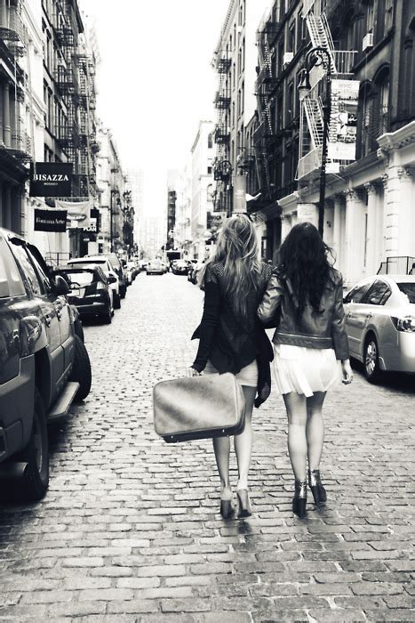 Black And White, City, Friends, Friendship, Girls Image