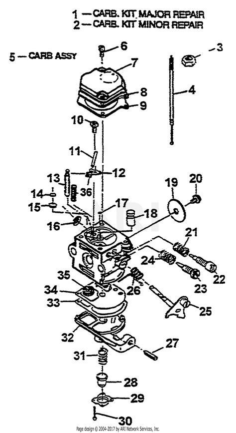 Homelite 1930 Parts Diagram for Carburetor