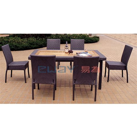 wholesale dining sets garden rattan dinning table chair