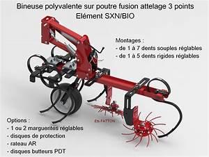 Attelage 3 Points : bineuse polyvalente sur poutre fusion attelage 3 points el ment sxn bio ~ Voncanada.com Idées de Décoration