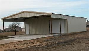 Custom metal building with awning shop mancave pinterest for Custom steel sheds