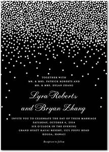 Diamond bling theme bat mitzvah sweet 16 wedding for Black and white bling wedding invitations