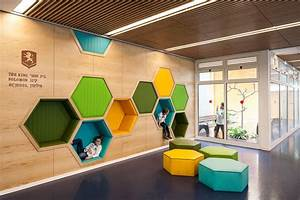 Awesome school in israel with playful interior for Home interior design schools 2