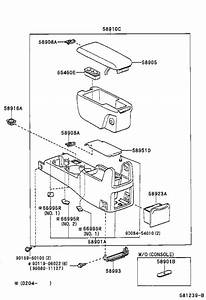 Toyota Tacoma Center Console Latch  Lock  Console