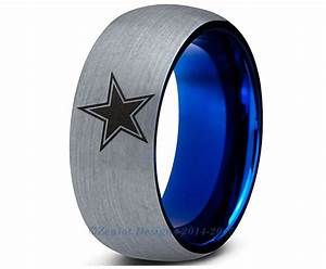 special sale dallas cowboys blue dome tungsten wedding With dallas wedding rings