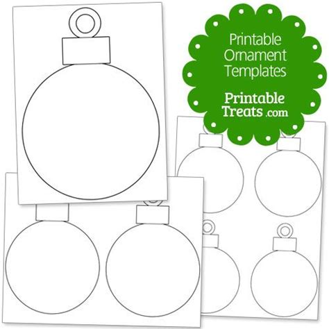 Ornament Template Printable Ornament Templates From Printabletreats