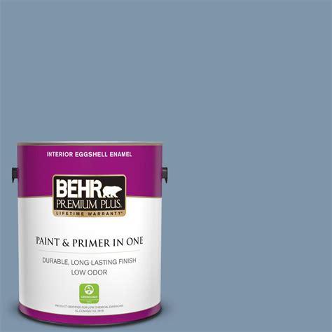 behr premium plus 1 gal 560f 5 bleached denim eggshell enamel low odor interior paint and