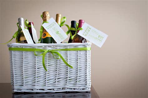 Wine Basket Shower Gift - bridal shower gift wine basket poem tutorial free
