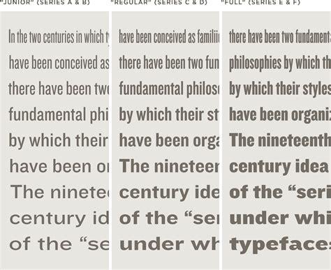 knockout font features nine widths hoefler co