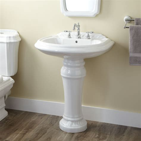 wide base pedestal sink classic white ceramic pedestal sink having wide spread