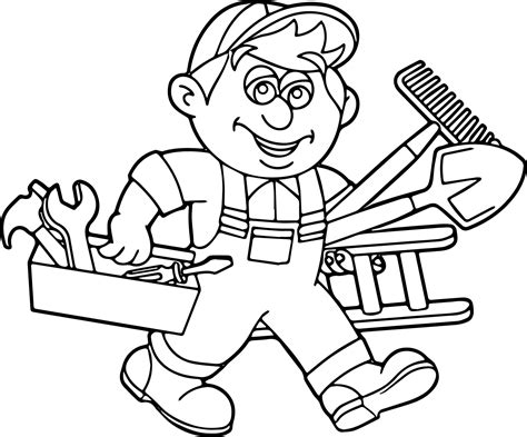 toolbox coloring page tool box coloring pages www pixshark images