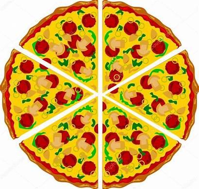 Pizza Triangle Clipart Shape Clip Cheese Mushrooms