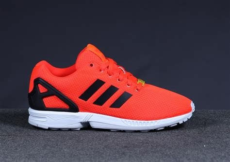adidas zx flux solar red   weartesters