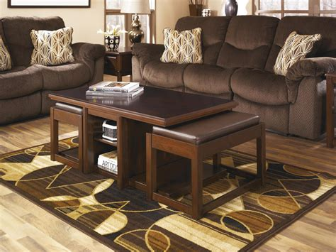 Furniture. Beauty Living Room Table With Stools